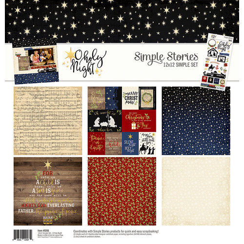 Simple Stories December Daily - O Holy Night - 12 x 12 Paper Collection 9266