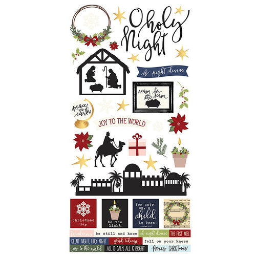 Simple Stories December Daily Oh Holy Night - cardstock stickers - 9267