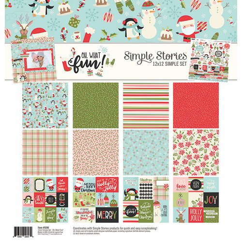 Simple Stories December Daily Oh What Fun 12 x 12 Paper collection - 9286