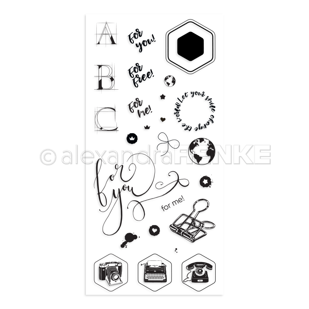 New Alexandraolymer Clear Stamp - For You - kbast-ar-di0004