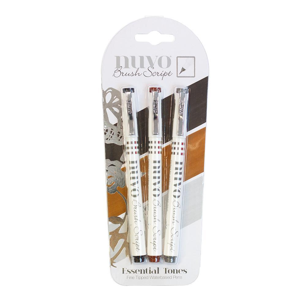 Nuvo - Tonic Studio - Brush Script Pens - Essential Tones - 110N