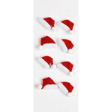 Little B Dimensional stickers Christmas Hats - 100208