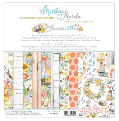 "New Mintay Paper Collection 12 x 12"" Bloomville"