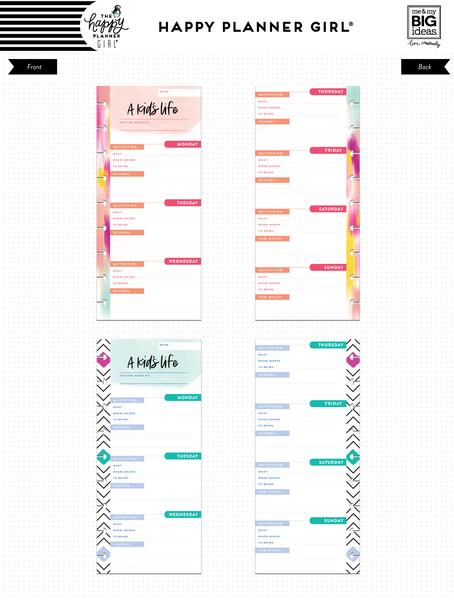 New Healthy Hero Classic Happy Planner refill A Kids Life - fil-45-4036