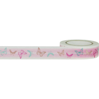 Little B pink butterflies washi tape - 102347