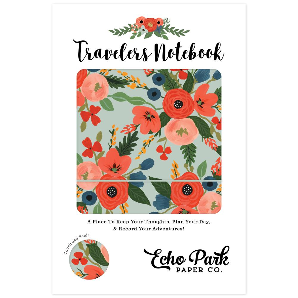 "Echo Park Travelers Notebook 6x9"" - Mint Floral"