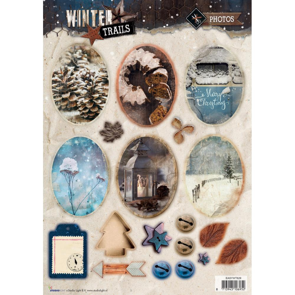 Winter Trails Christmas Die Cut Sheet - sywt629