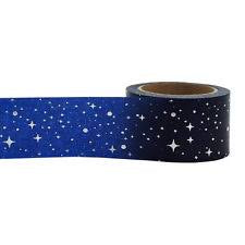 Little B silver foil dark blue night sky wide washi tape - 100440