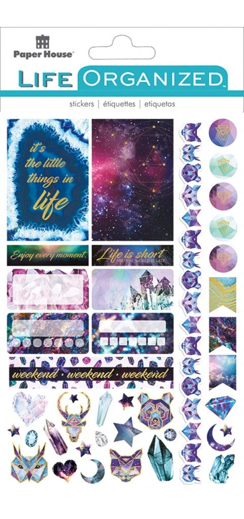New Paper House Life Organised Stargazer  Sticker Book with foil accents stpl-00