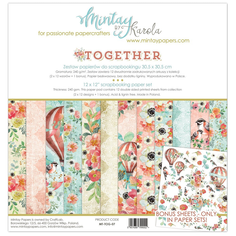 "Mintay Paper Collection 12 x 12"" Together"