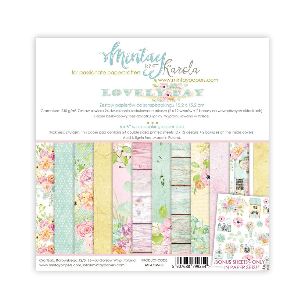 "Mintay Paper Collection 6 x 6"" Lovely Day"
