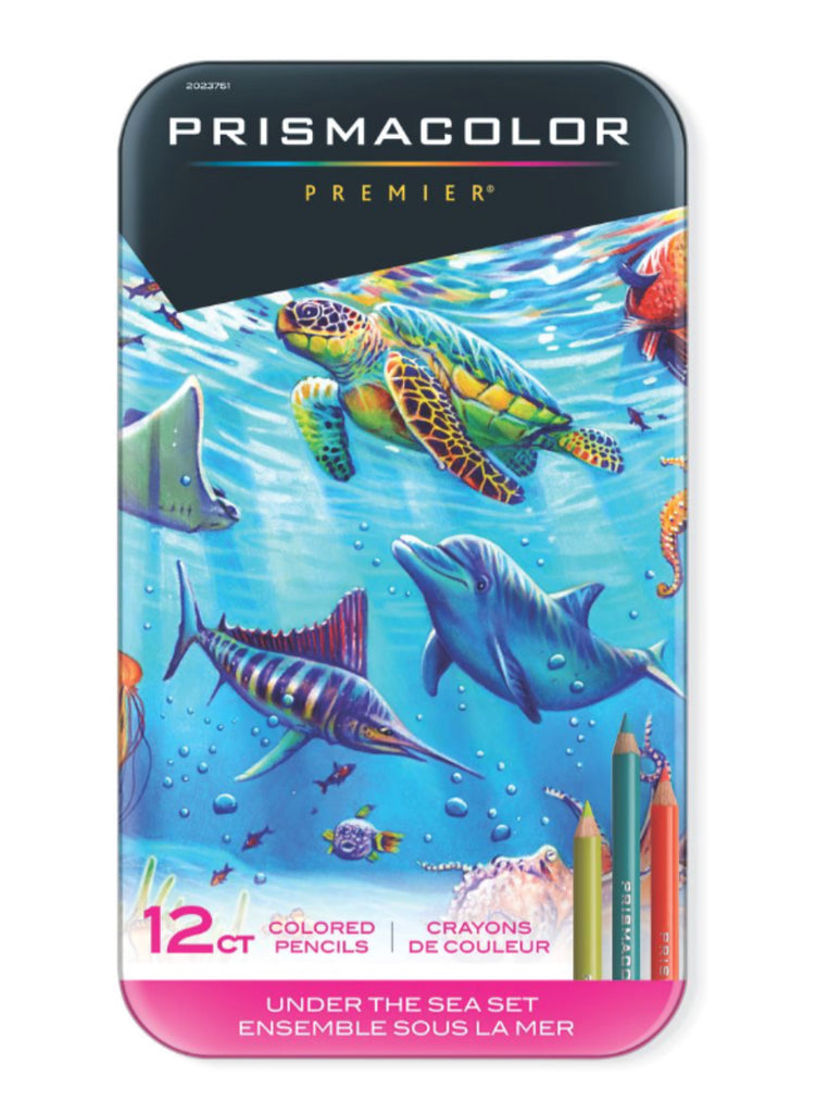 Prismacolor Pencil Set 12 Artist Grade Premier Colouring Pencils - Under The Sea