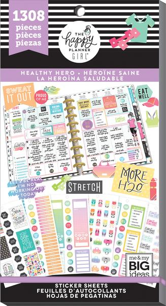 1308 Healthy Hero NEW Me and My Big Ideas Create 365 Happy Planne Sticker Book -
