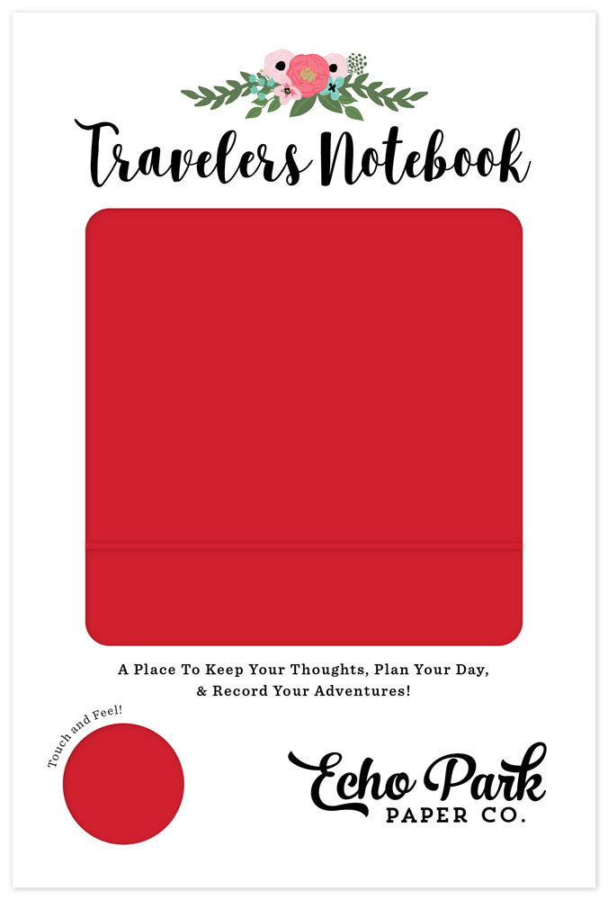 "Echo Park Travelers Notebook 6x9"" - Red"