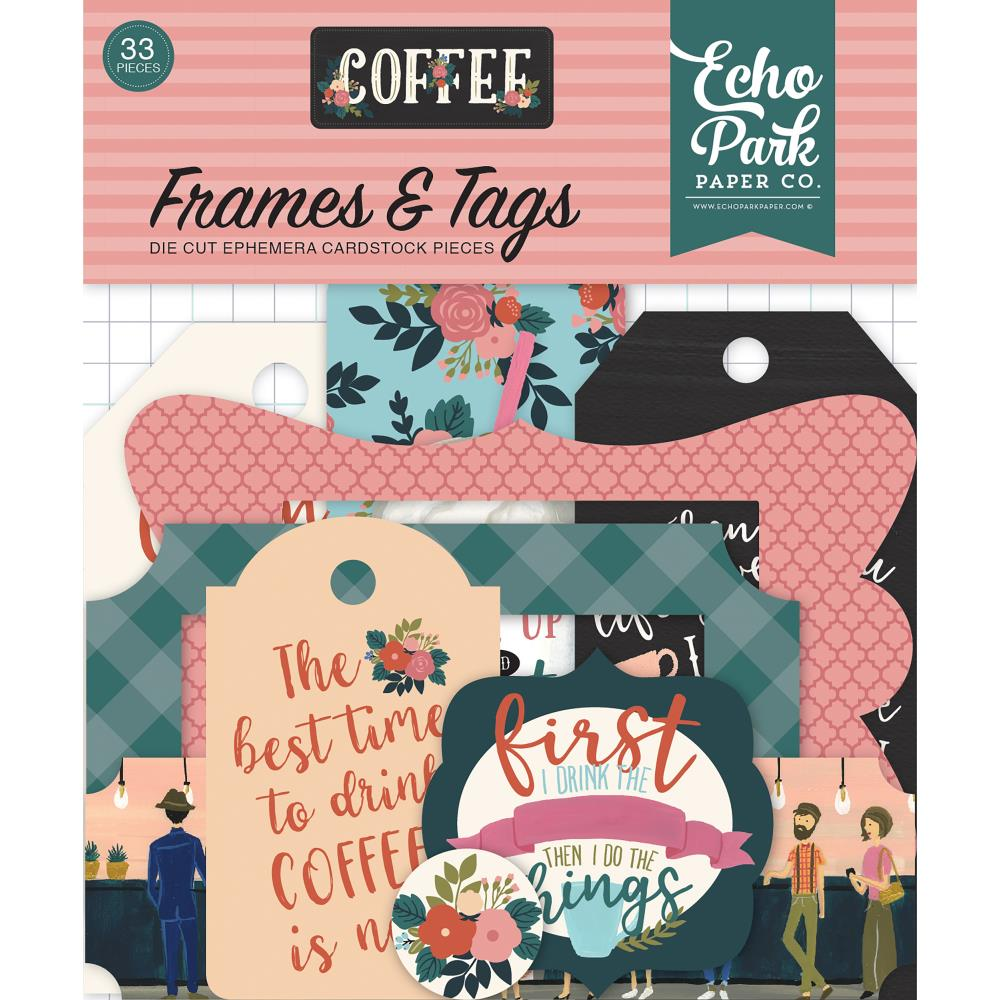 Echo Park Travelers Notebook Tags and Frames - Coffee - co164025