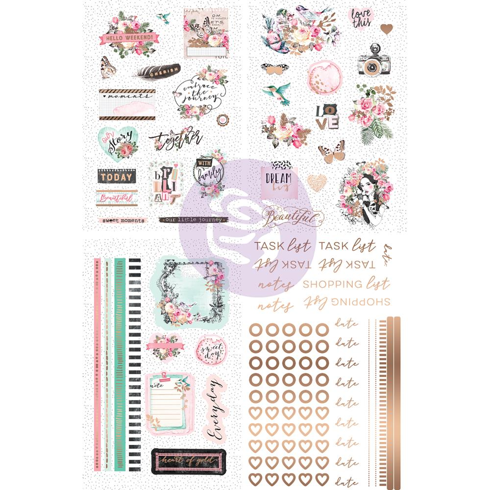 New Prima Foiled Sticker Pack 114 Pieces - Havana - 597771