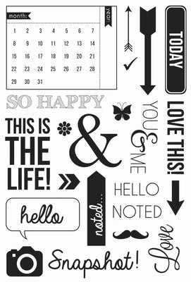 Kaisercraft Clear Captured Moments Stamp Set -  Calendar - cs158