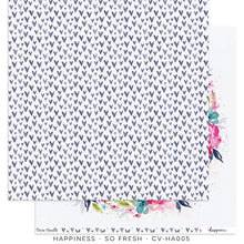 "Happiness Collection - New Cover Page for your Travelers Notebook Insert or 12 x 12"" sheet Scrapbook Paper - So Fresh - CV-HA005"
