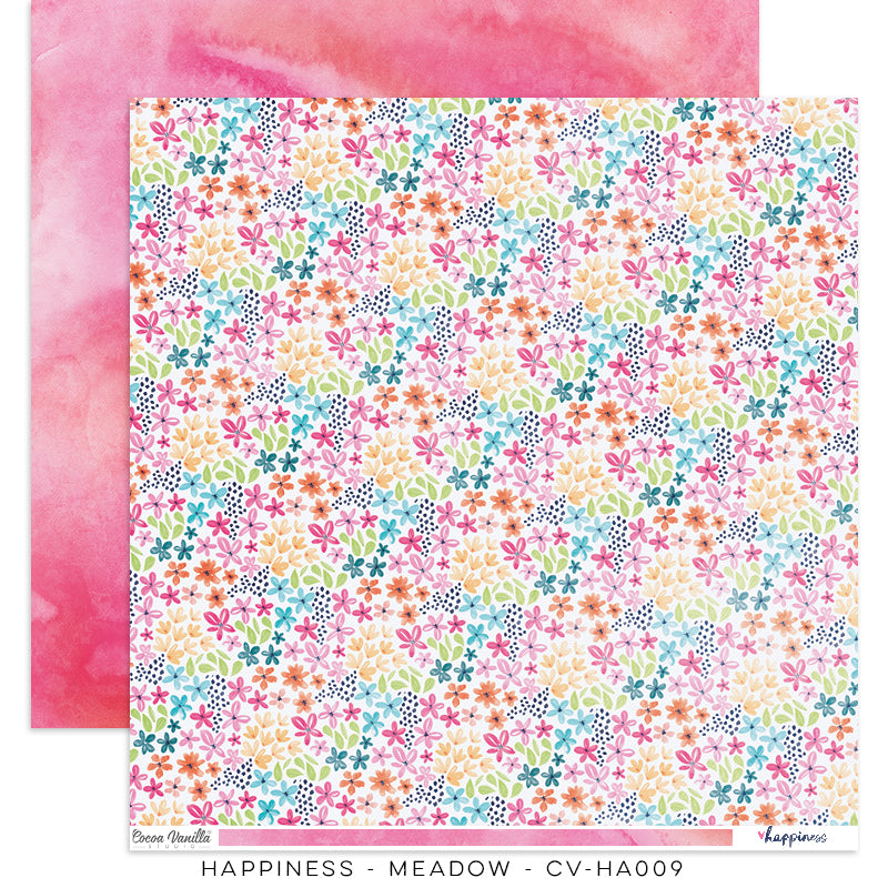 Happiness Collection - 12inch x 12inch Scrapbook Paper