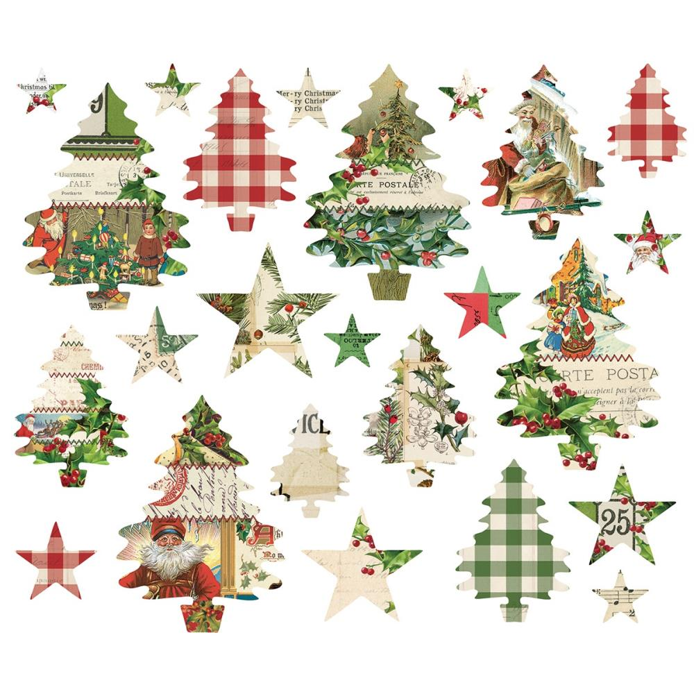 New Simple Stories Simple Vintage Christmas - Bits and Pieces Ephemera 24pc - 10