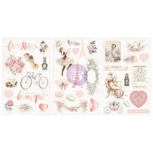 New Prima chipboard Stickers - Prima - Love Story - 994013