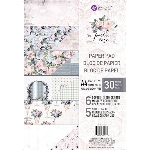 NEW My Prima Planner A4 Paper Pad - Poetic Rose
