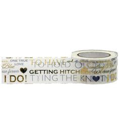 Little B Wedding I do gold wide foil washi tape - 1001066