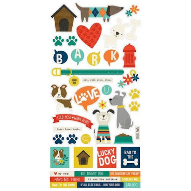Simple Stories - cardstock stickers - Lucky Dog - 9277