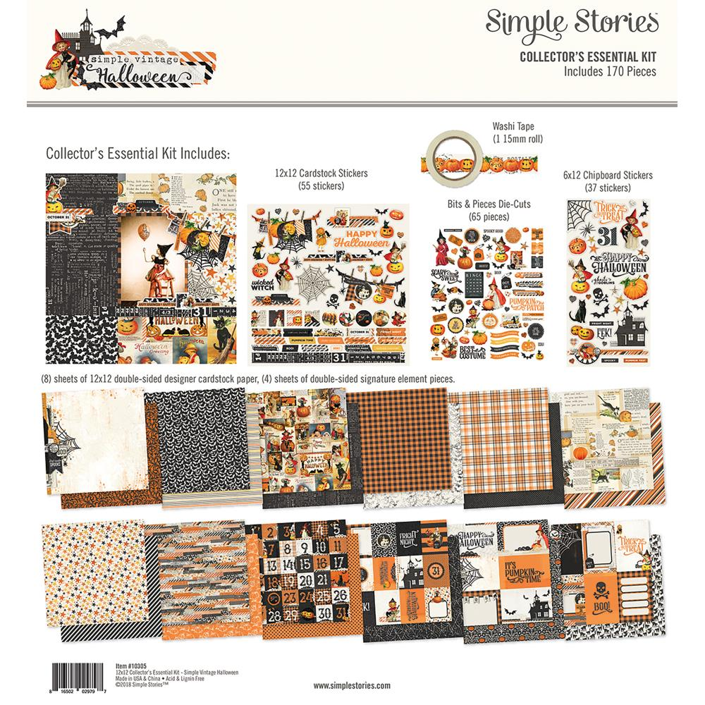 Simple Stories Carpe Diem Collectors Essential Kit - Vintage Halloween - 10305