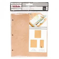 Vicki Boutin Binder refill - kraft punched paper pack 343930