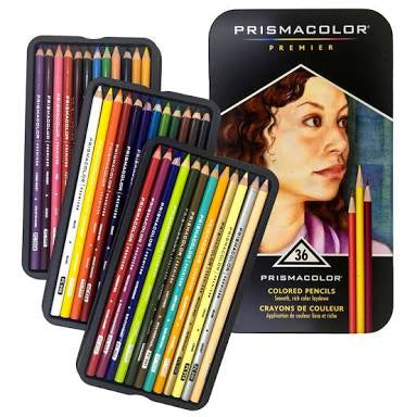 Prismacolor Pencil Set 36 Artist Grade Premier Colouring Pencils
