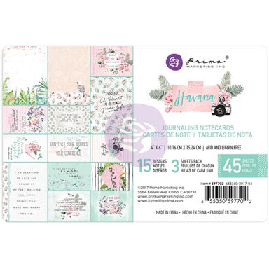 "New Prima Journaling Cards - 45 sheets - 4x6""- Havana - 597702"