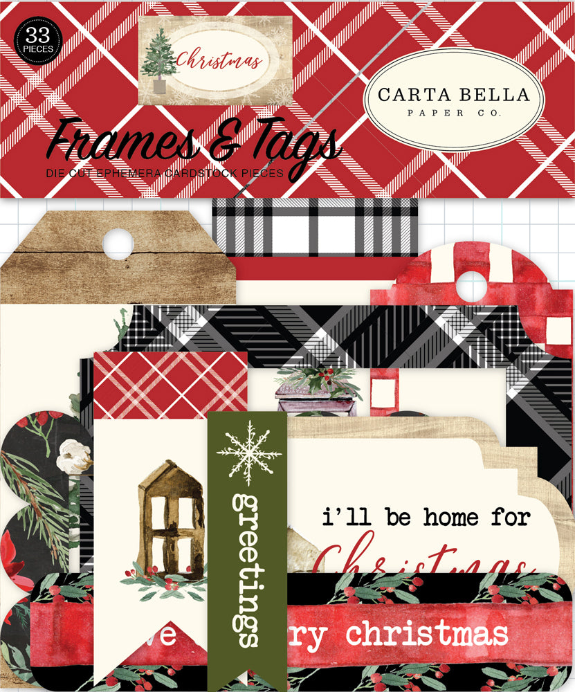 New Carta Bella Paper Co Frames and Tags - Christmas - CBCH89025
