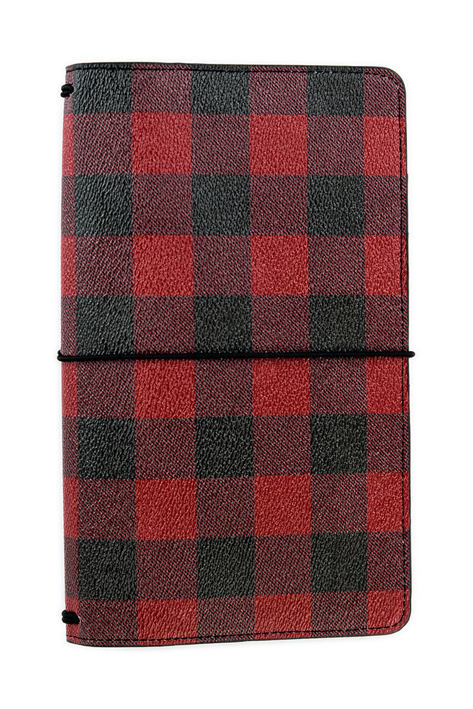 "New 2018 Echo Park Travelers Notebook 6x9"" - Christmas Red Check"
