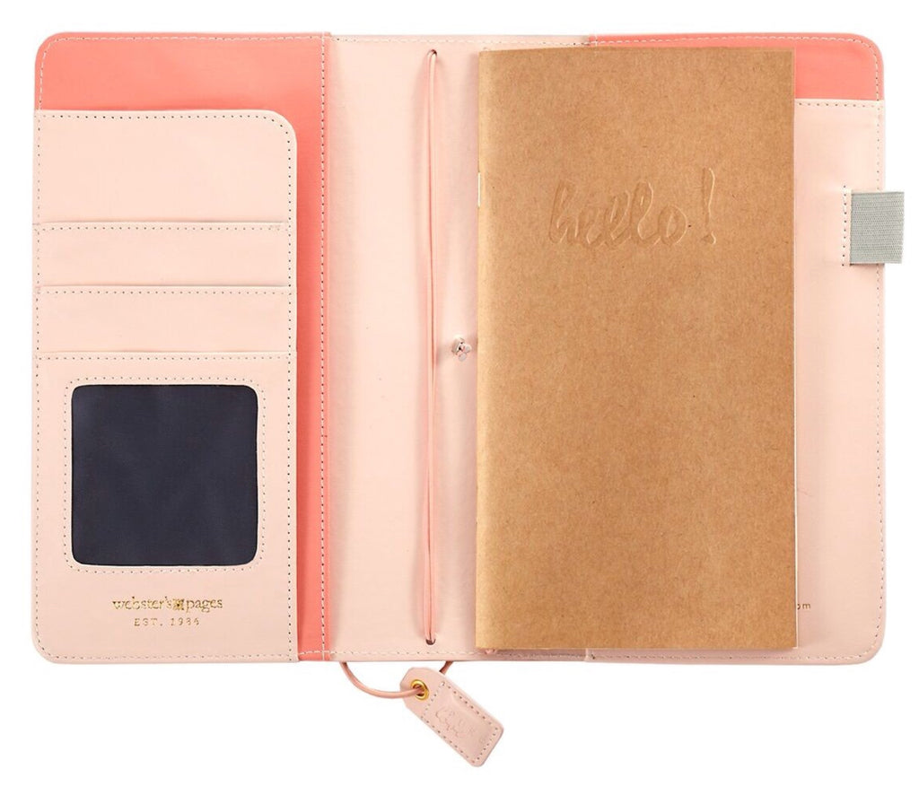 Webster's Pages Colour Crush Pocket Size Travelers Notebook - Blush Pin