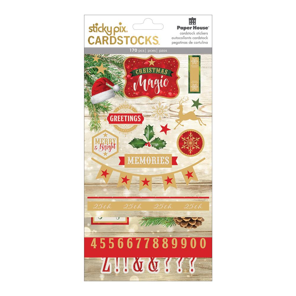Paper House Christmas Stickers - Joy 170pc