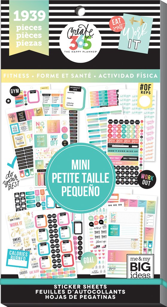 Value Pack 1939 Pieces -  Me and My Big Ideas Happy Planner Mini -Workout-  PPSV