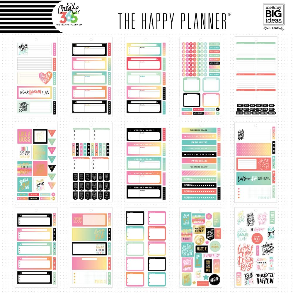 Value Pack 875 Pieces -  Me and My Big Ideas Happy Planner Mini Productivity - P