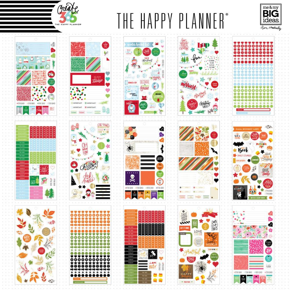 Value Pack 2001 Pieces -  Me and My Big Ideas Happy Planner Mini Seasonal - PPSV