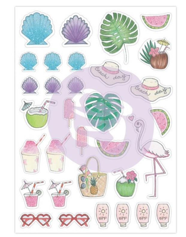My Prima Josefina Planner Stickers - Beach Day