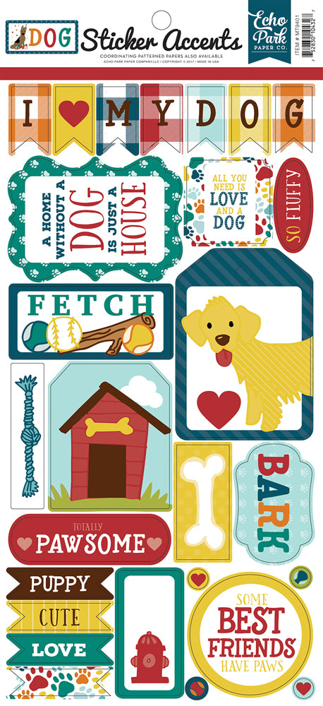 Echo Park Cat Sticker Sheet - mt9401 Dogs