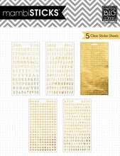 MAMBI Stickers 5 Sheets - Foil Stickers - Alpha Words Hey Girl - pps-27