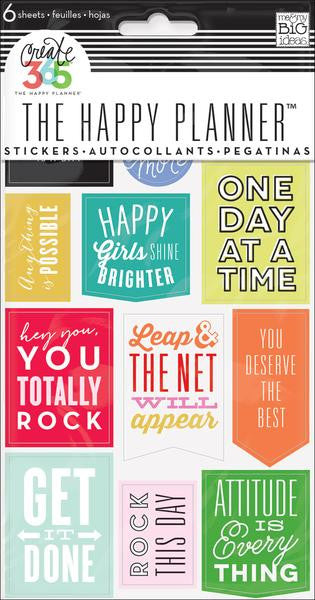 Me and My Big Ideas Create 365 Happy Planner Stickers 6 sheets - Show Up- PPS-55