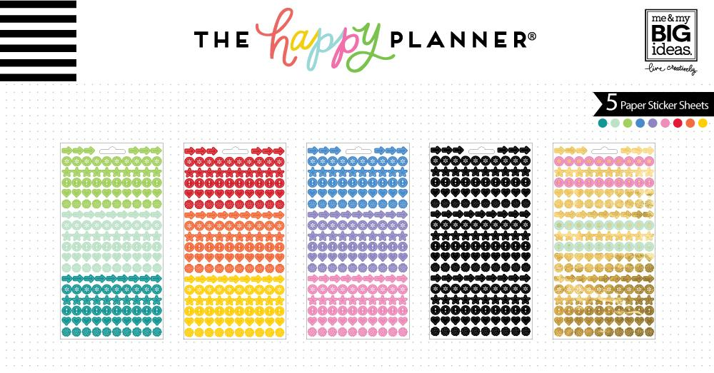 Create 365 Happy Planner Stickers Colourful Dots - PPS-68