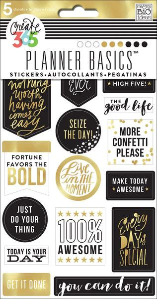 Me and My Big Ideas Create 365 Happy Planner Stickers 6 sheets - Gold Seize the