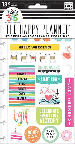 Me and My Big Ideas Create 365 Happy Planner Stickers 135 pieces TGIF PPSP-101