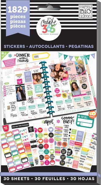Basics Value Pack 1829 pieces - Me and My Big Ideas Create 365 Happy Planner Sti