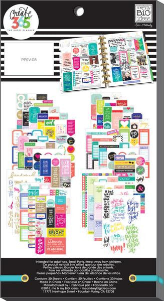 Quotes Value Pack 427 pieces- Me and My Big Ideas Create 365 Happy Planner Stick