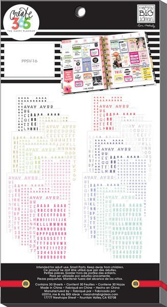 Alphabet Value Pack 4180 pieces- Me and My Big Ideas Create 365 Happy Planner St