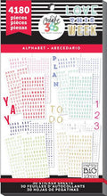 Alphabet Value Pack 4180 pieces- Me and My Big Ideas Create 365 Happy Planner Stickers ppsv-016